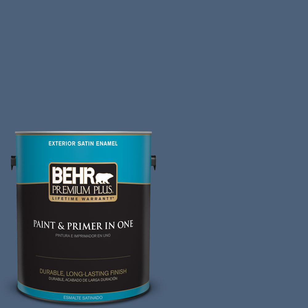 BEHR Premium Plus 1-gal. #PMD-64 Evening Symphony Satin Enamel Exterior Paint