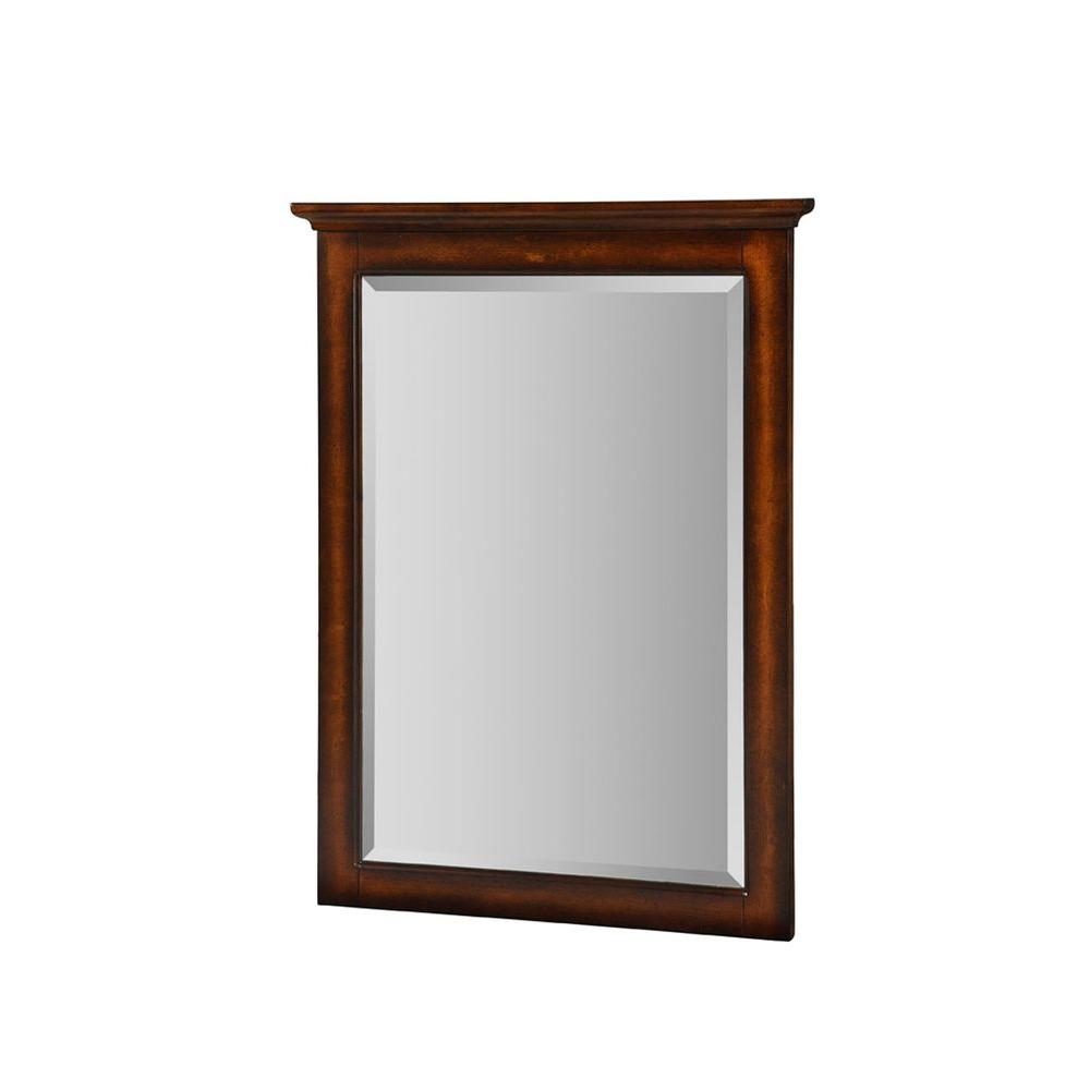Hembry Creek Islander 32 in. x 24 in. Framed Wall Mirror in Weathered Dune