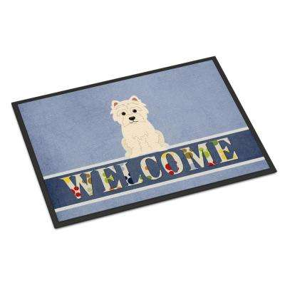 18 in. x 27 in. Indoor/Outdoor Westie Welcome Door Mat