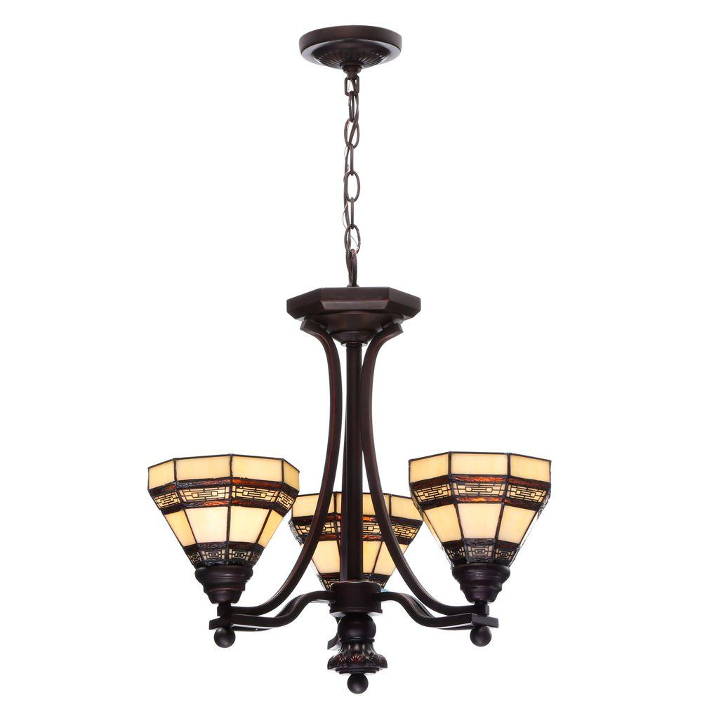 Hampton Bay Addison 3-Light Oil Rubbed Bronze Chandelier