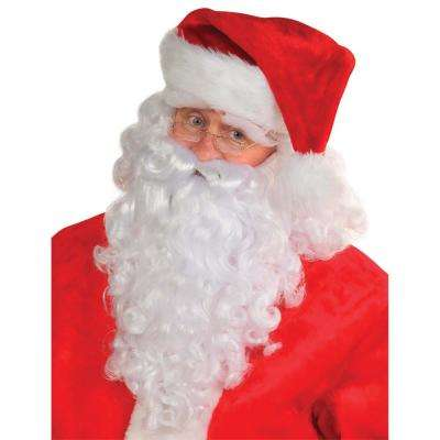 Santa Christmas Wig and Beard Deluxe Set (4-Count)
