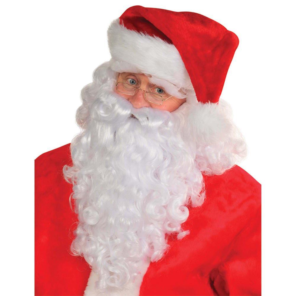 Amscan Santa Christmas Wig And Beard Deluxe Set 4 Count