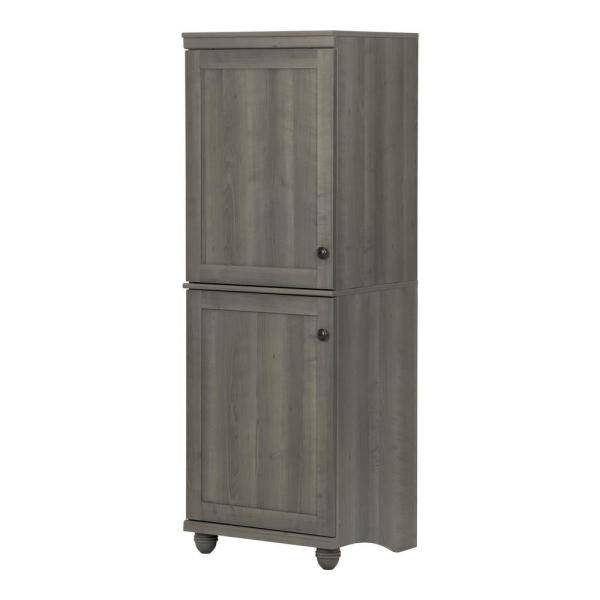 South Shore Hopedale 2 Door Storage Cabinet in Gray Maple
