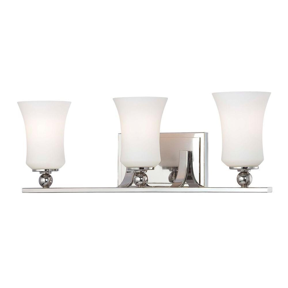 Minka Lavery Ameswood 3-Light Polished Nickel Bath Light