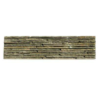 Portico Slate Montsegur 6 in. x 23-1/2 in. x 19.05 mm Green Natural Stone Wall Tile (5.88 sq. ft. / case)