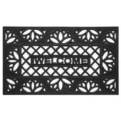 Tulip 18 in. x 30 in. Wrought Iron Rubber Floor Mat