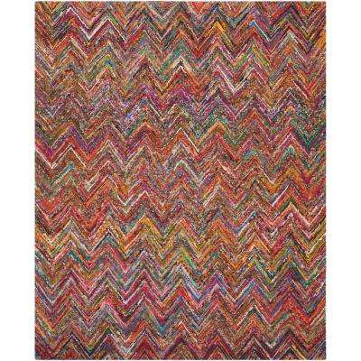 Nantucket Blue/Multi 8 ft. x 10 ft. Area Rug