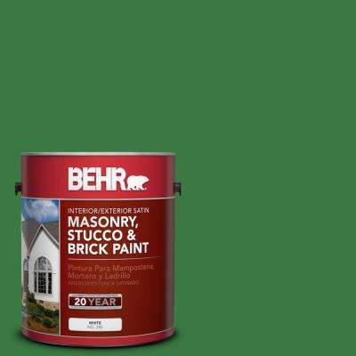 1 gal. #M390-7 Hills of Ireland Satin Interior/Exterior Masonry, Stucco and Brick Paint