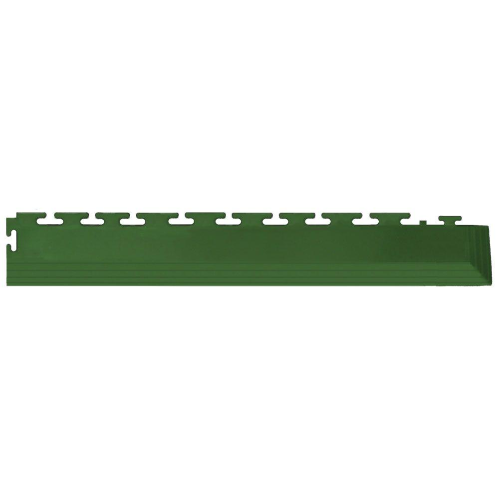 IT-tile Coin 2-1/2 in. x 23 in. Forest Green Vinyl Tapered Interlocking Flooring Corners (7 sq. ft./case)