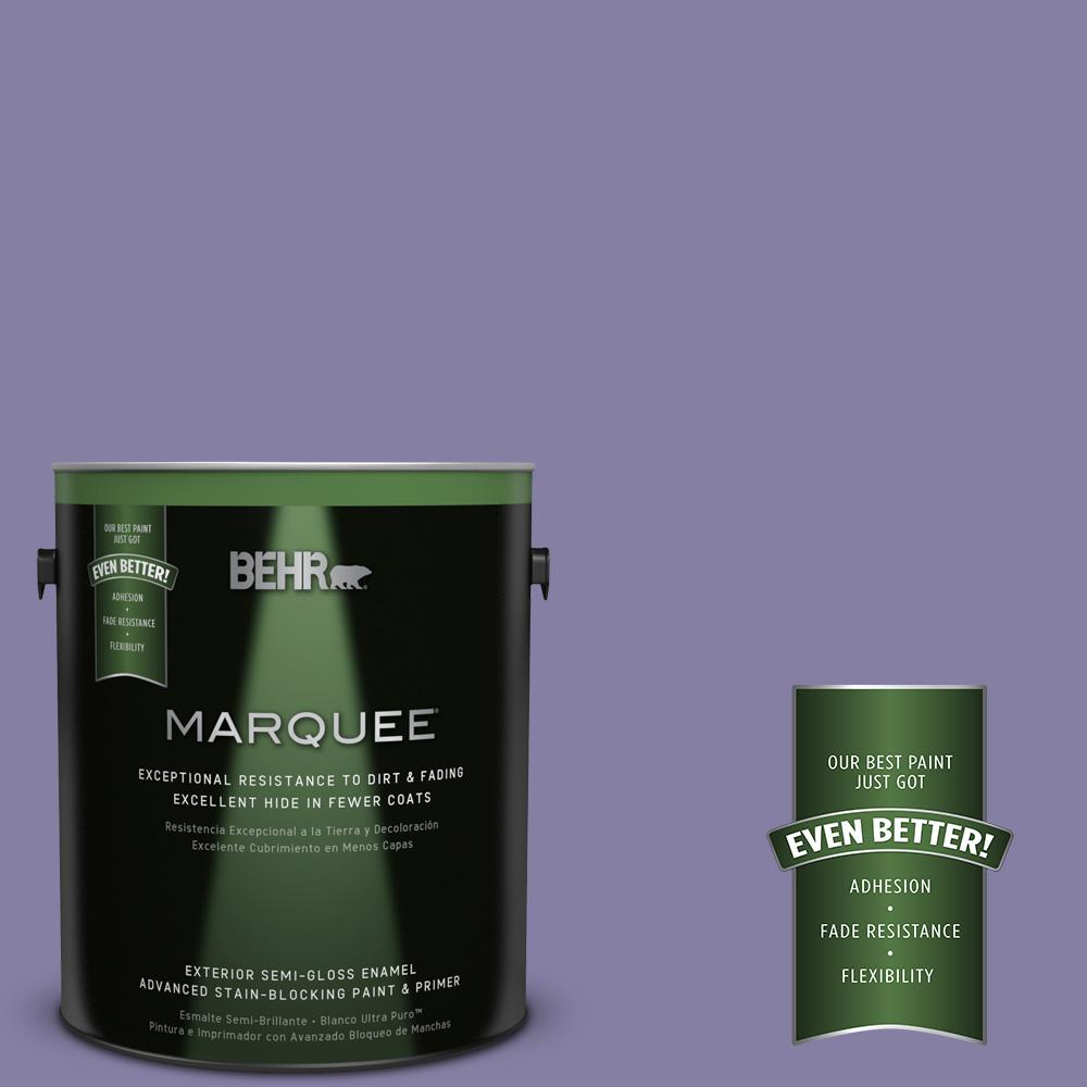 BEHR MARQUEE 1-gal. #640D-6 Chinese Violet Semi-Gloss Enamel Exterior Paint