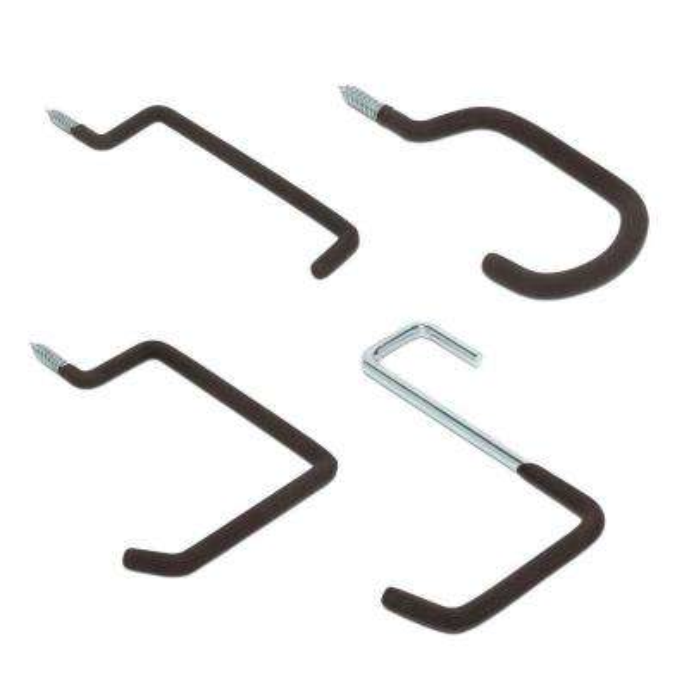 Heavy-Duty Garage Screw Hooks Value Pack (8-Pack)
