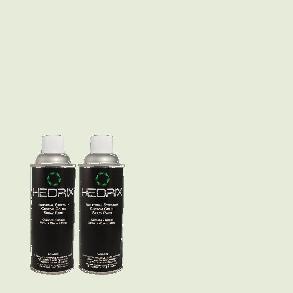 Hedrix 11 oz. Match of 440E-1 Relaxing Green Low Lustre Custom Spray Paint (2-Pack)