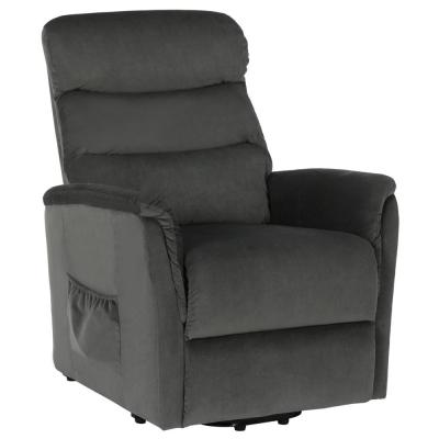 Woody Gray Upholstered Power Lift Recliner