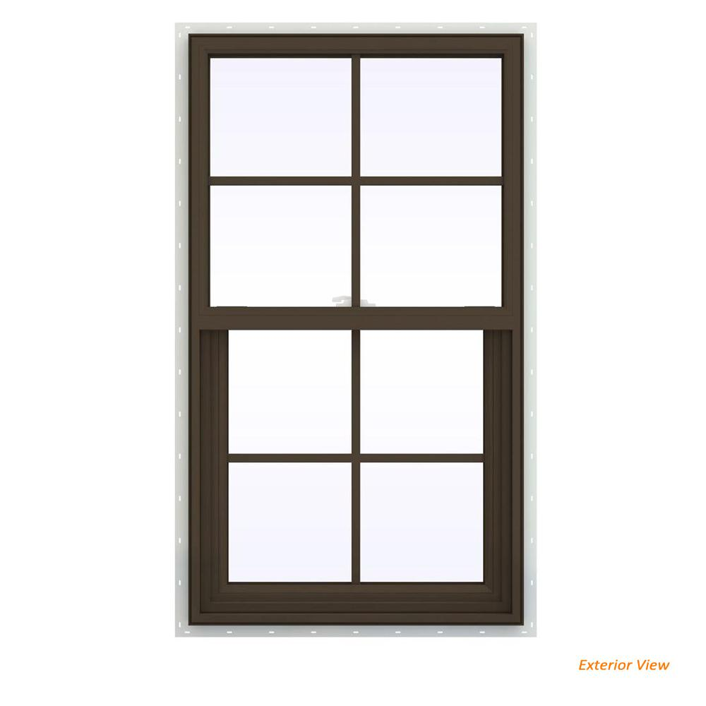 23.5 in. x 35.5 in. V-2500 Series Brown Painted Vinyl Single