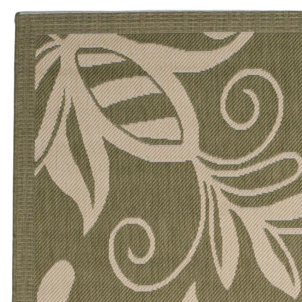 Safavieh Courtyard Olive Natural 4 Ft X 6 Ft Indoor Outdoor Area Rug Cy2961 1e06 4 The Home Depot