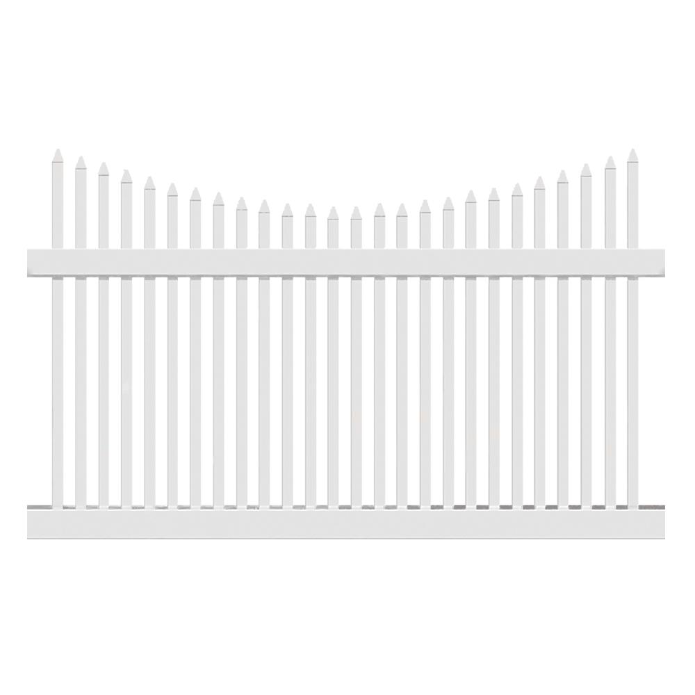 Barrington 5 ft. H x 6 ft. W White Vinyl Picket