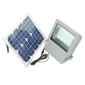 Solar Goes Green Solar Integrated LED Gray Outdoor Flood Light with Remote Control and Timer by Solar Goes Green