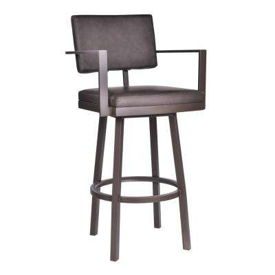 Balboa 30 in. Brown Swivel Bar Stool
