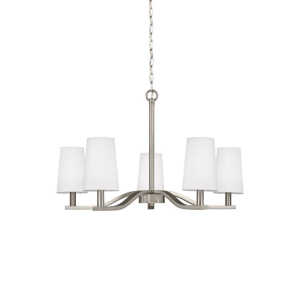 Volume lighting trinidad 5 light brushed nickel chandelier v5245 nance 5 light brushed nickel chandelier arubaitofo Gallery