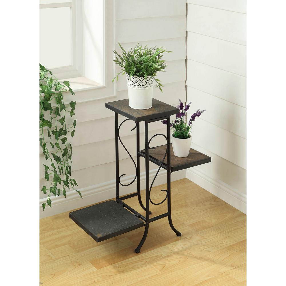 Black Indoor Plant Stand