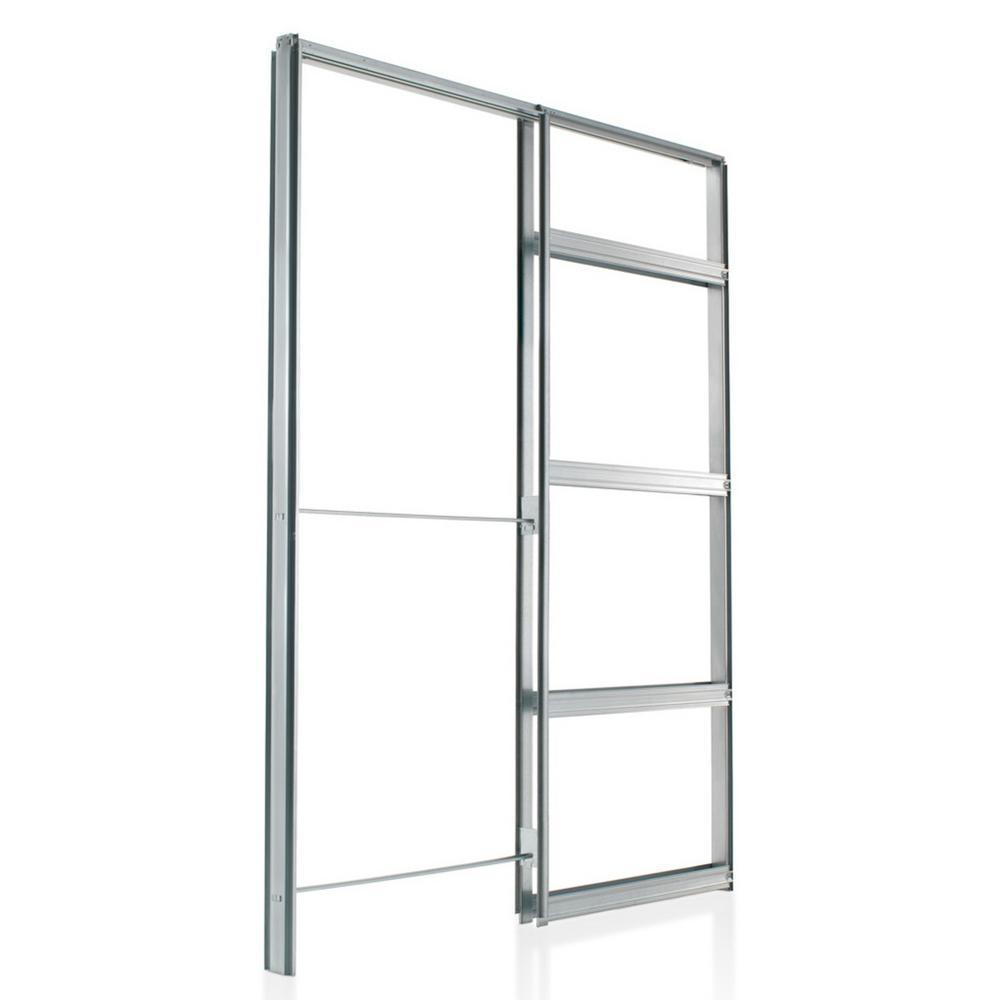 24 in. x 80 in. Galvanized Steel Pocket Door Frame Kit (2 in. x 4 in. Wall)
