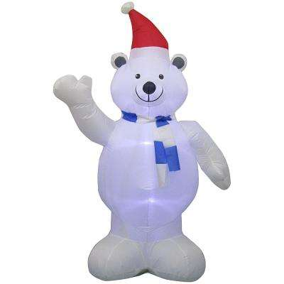 6.5 ft. Inflatable Airblown Polar Bear