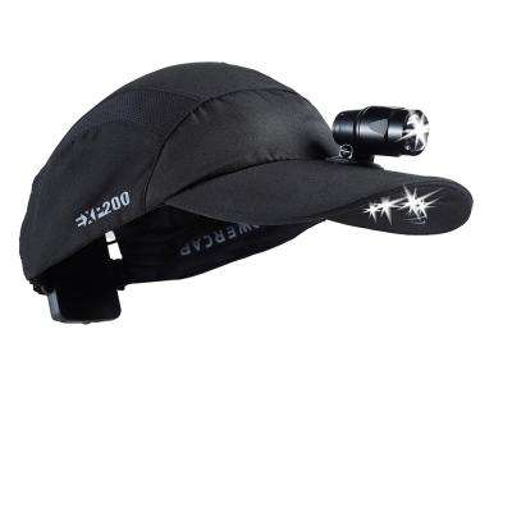 POWERCAP LED Premium Headlamp Hat EXP 200 Ultra-Bright Hands Free Lighted Battery Powered Black