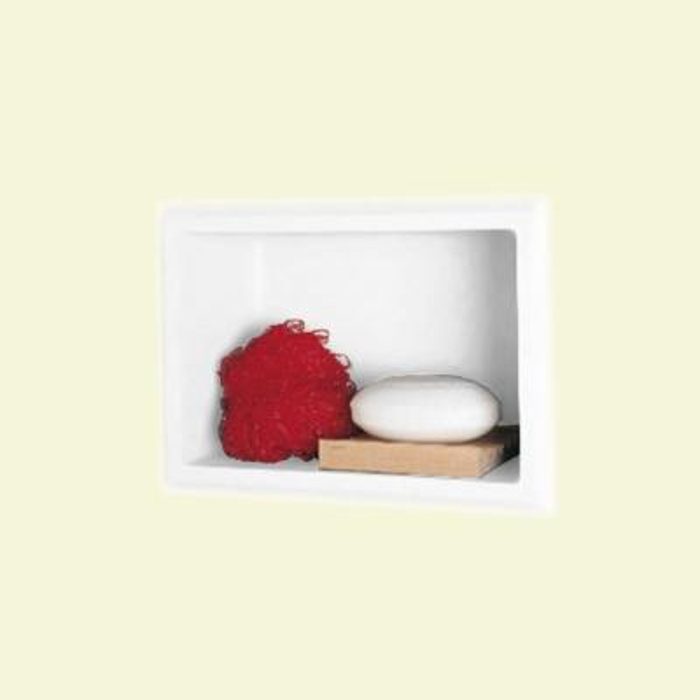 7.5 in. W x 4 in. D x 10.8 in. H Recessed Soap Dish in White
