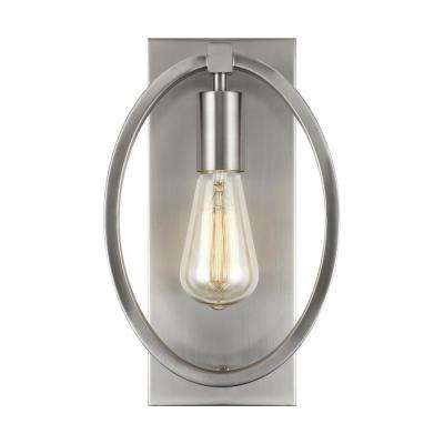Marlena 1-Light Satin Nickel Sconce