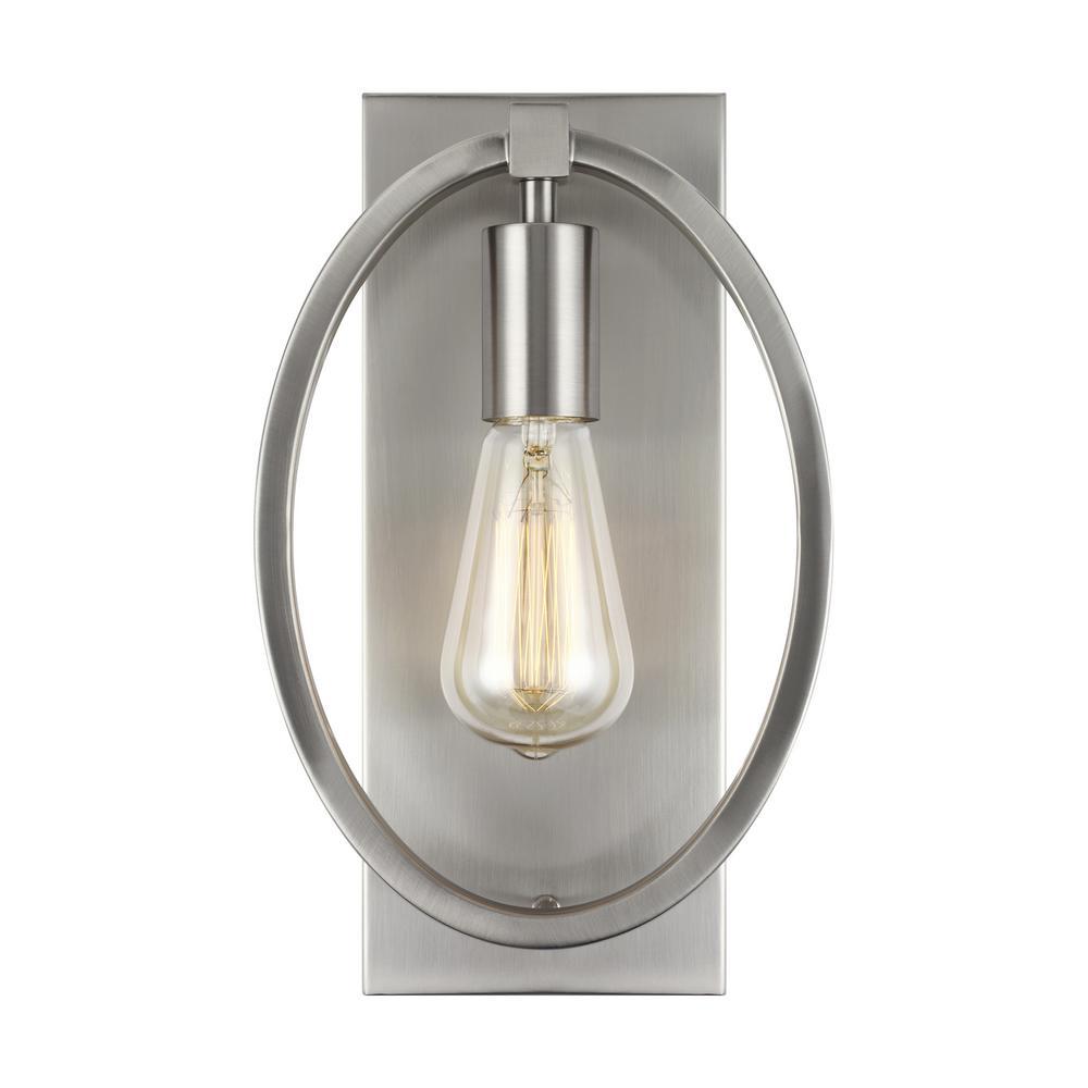 Marlena 1-Light Satin Nickel Sconce