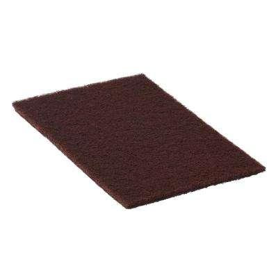 4-1/2 in. x 10 in. Maroon Chemical Free Stripping/Scrub Pad (48-Pack)