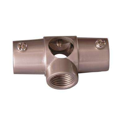 1 in. Brass Wall Tee for 4150 Shower Rod in Brushed Nickel