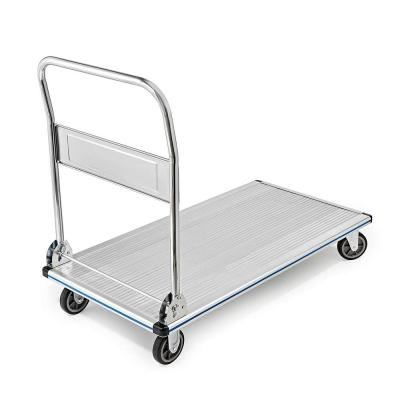 48 in. x 24 in. 600 lb. Capacity Aluminum Folding Platform Cart