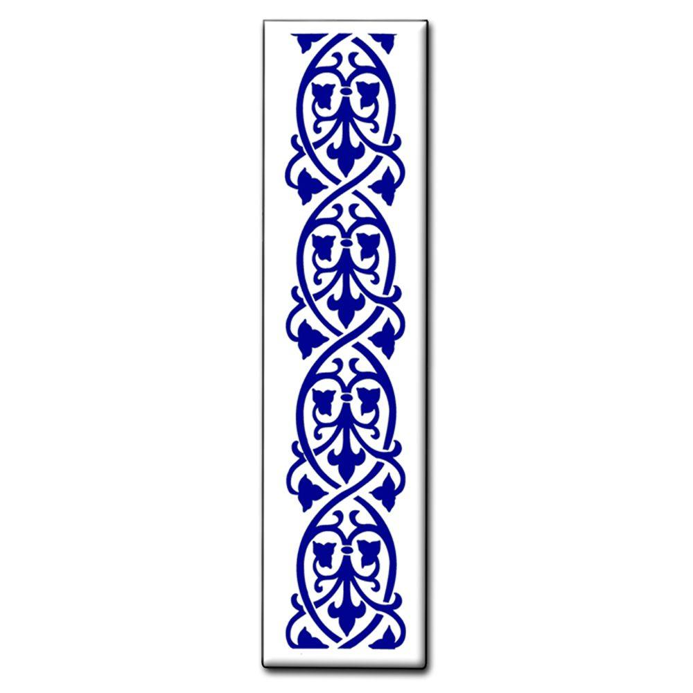 null 1.5 in. x 6 in. Blue Orleans Spacer