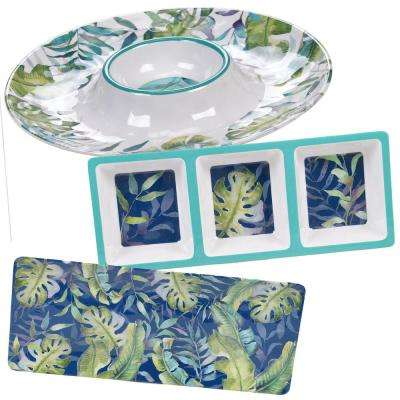 Tropicana 3-Piece Melanine Hostess Set