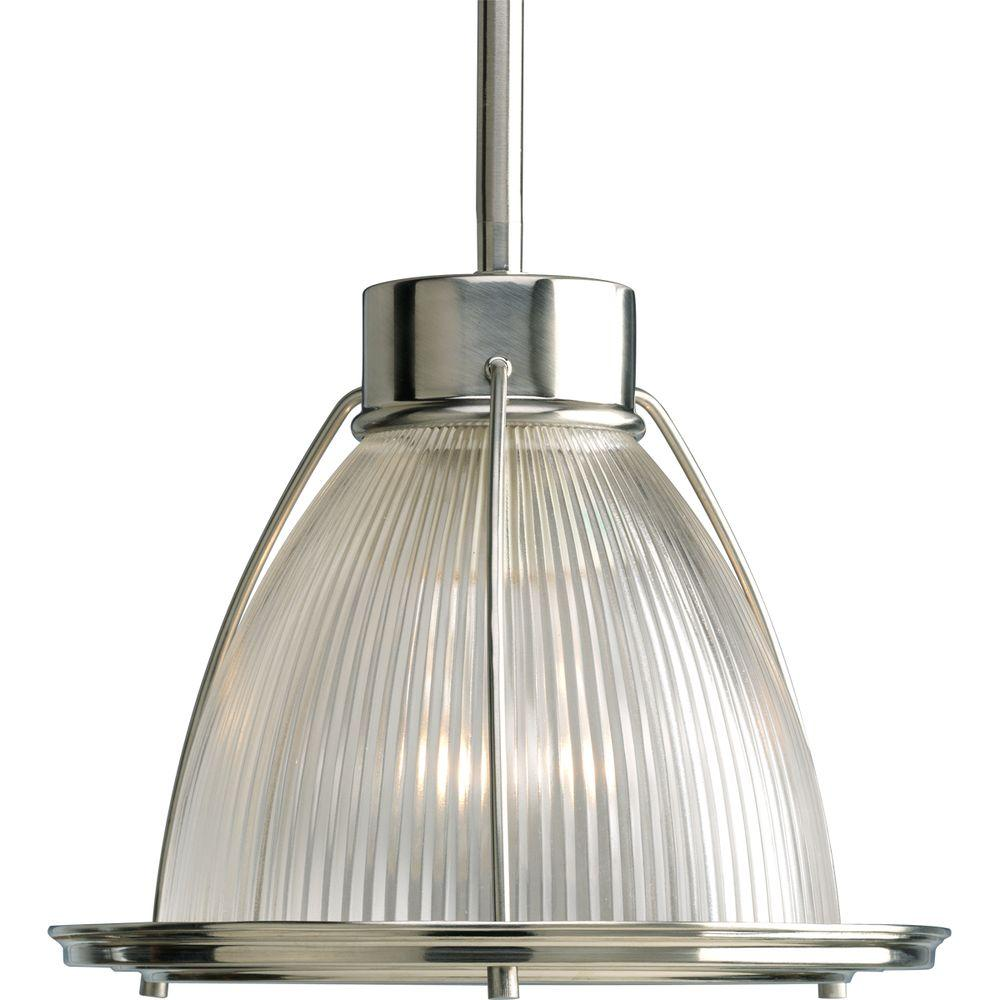 Progress Lighting 1 Light Brushed Nickel Mini Pendant P5163 09 The Home Depot