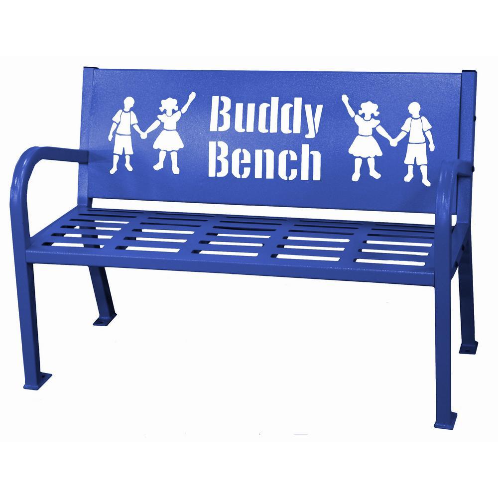 Paris 4 ft. Blue Buddy Bench, Blue/Purple