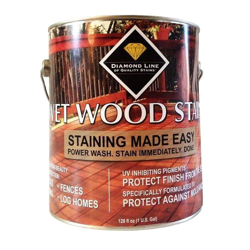Wet Wood Stain 1 gal. Cedar Semi-Transparent Exterior Stain