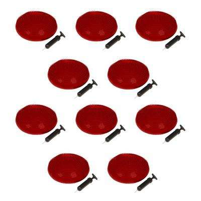 13 in. Dia PVC Fitness and Balance Disc, Red (Set of 10)