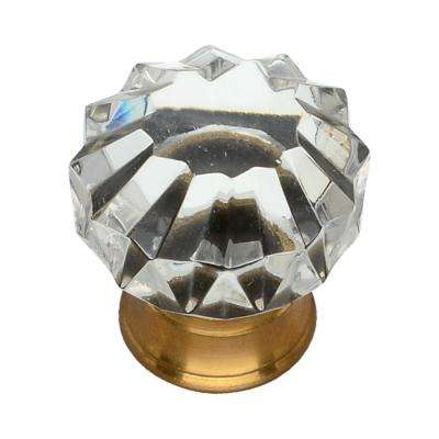 1-1/4 in. Clear Crystal Cabinet Knob