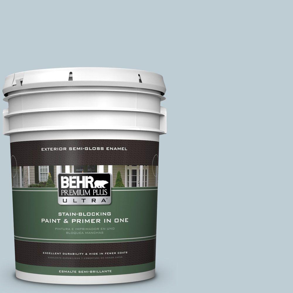 BEHR Premium Plus Ultra 5-gal. #540E-2 Cloudy Day Semi-Gloss Enamel Exterior Paint