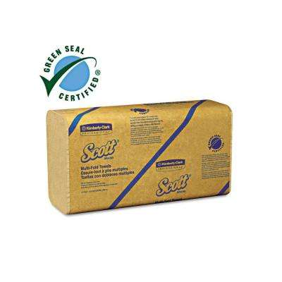 100% Recycled Natural Color MultiFold Paper Towels 250-Pack (16-Pack)