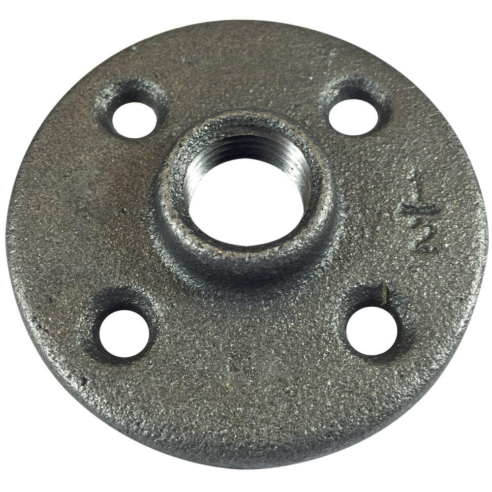 VPC 1/2 in. FPT Black Malleable Iron Floor Flange