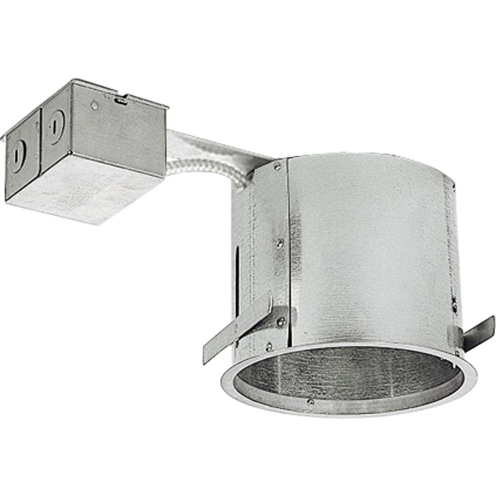 Progress Lighting 6 In Metallic Shallow Remodel Recessed Housing Ic And Non
