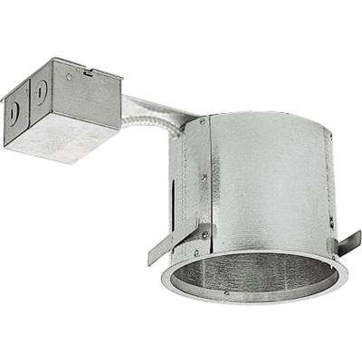 6 in. Metallic Shallow Remodel Recessed Housing, IC and Non-IC