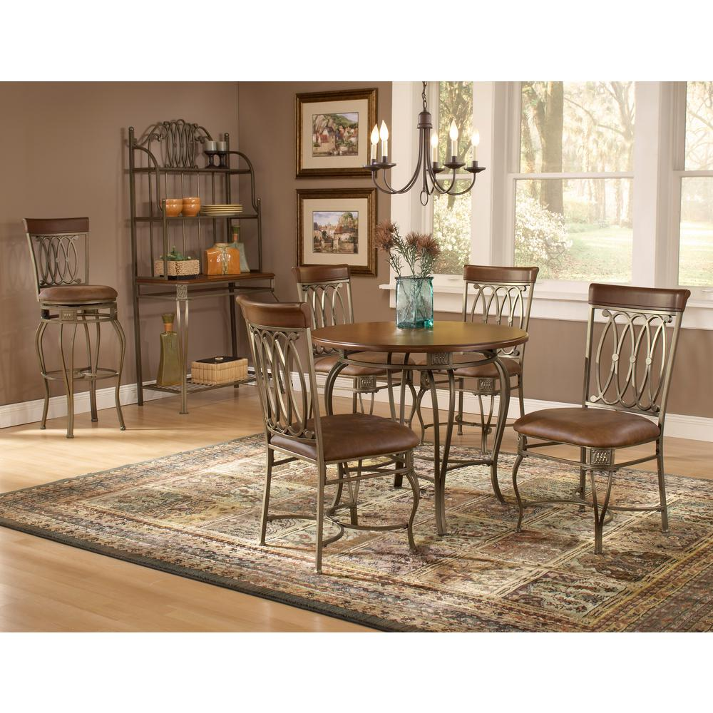 Hillsdale Furniture Montello 5 Piece Old Steel Dining Set