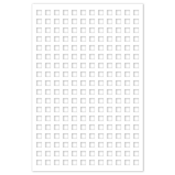 Square 32 in. x 4 ft. White Vinyl Decorative Screen Panel