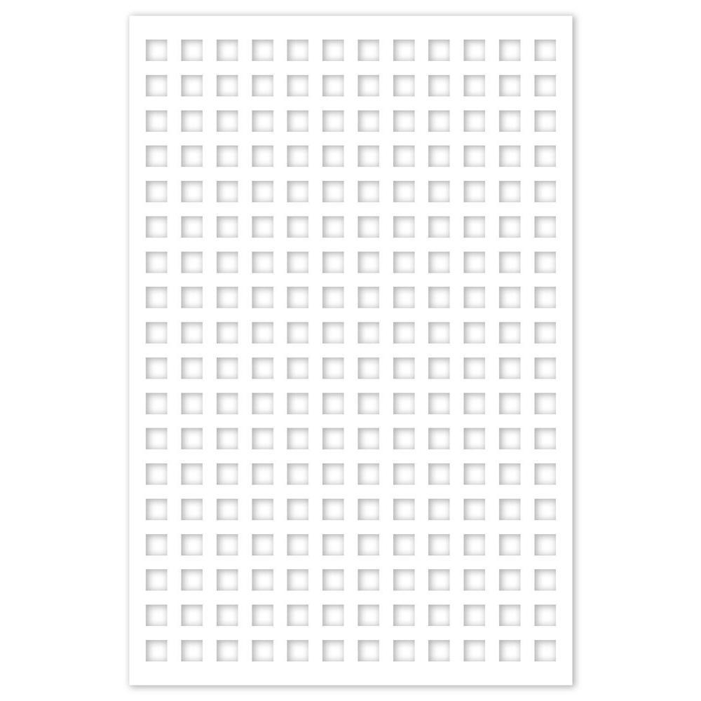 1/4 in. x 32 in. x 4 ft. White Square Vinyl Decor Panel