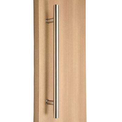 Ladder Style 84 in. x 1-1/4 in. Back-to-Back Brushed Satin Stainless Steel Door Pull Handle for Easy Installation