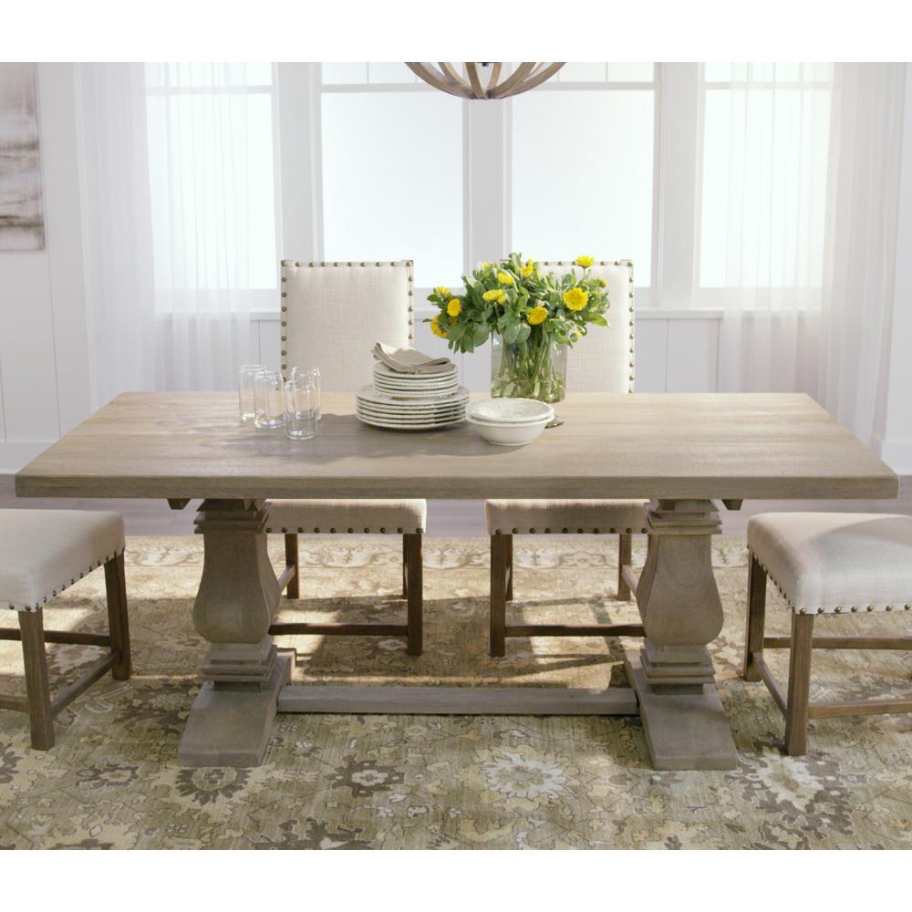 Home Decorators Collection Aldridge Antique Gray Dining Table ...